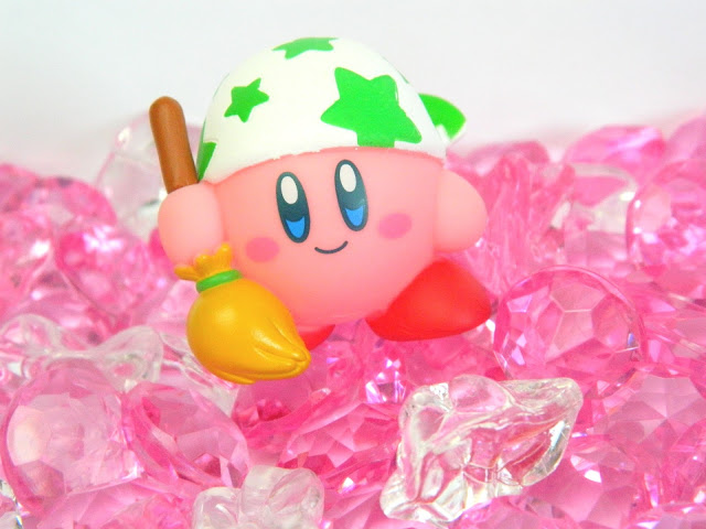 A figure of Nintendo Kirby dressed as a housemaid