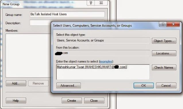 Adding BizTalk Isolated Host