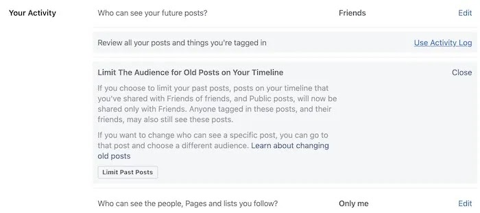 اجعل الملف الشخصي على Facebook مخططًا زمنيًا لحد خاص