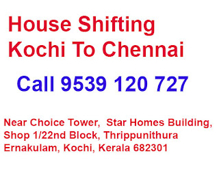 Kochi to Chennai House Shifting