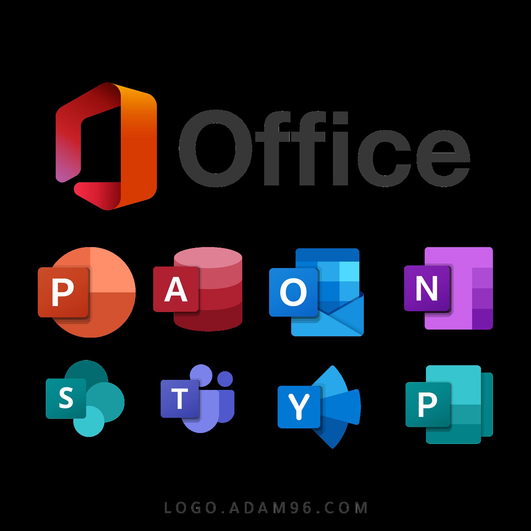 تحميل جميع شعارات مايكروسوفت شفافة Logo Microsoft PNG