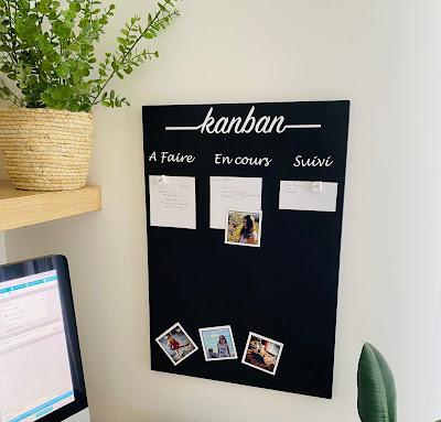 kanban magnétique pour organiser son bureau