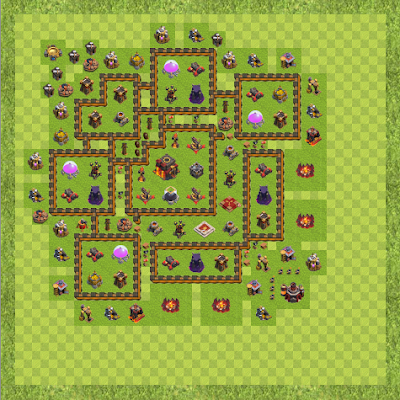 War Base Town Hall Level 10 By Anthony Johnson (A TH 10 Layout)