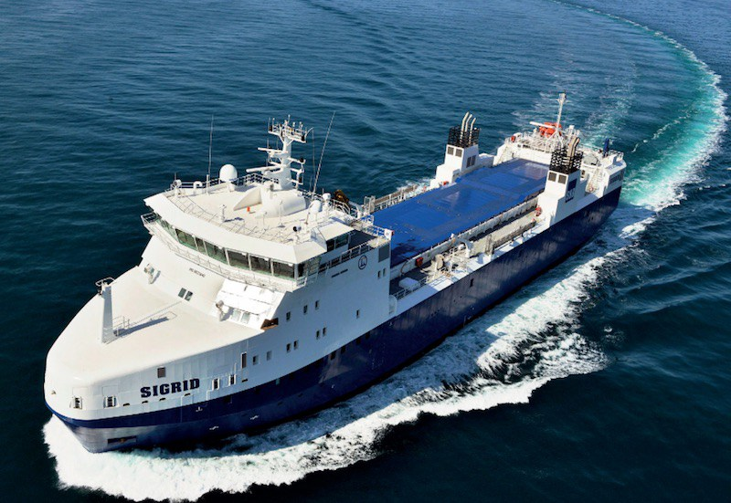 ACCIDENT,  SWEDEN: Nuclear Waste Ship MV Sigrid Runs Aground