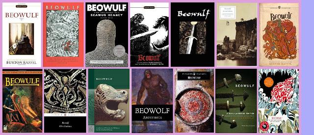 portadas del poema épico clásico Beowulf