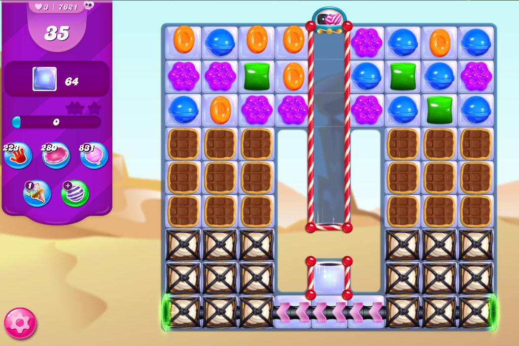 Candy Crush Saga level 7621
