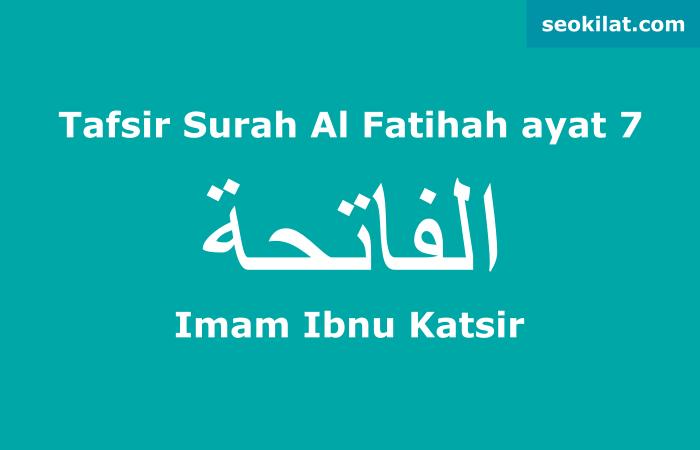 Tafsir Surah Al-Fatihah ayat 7