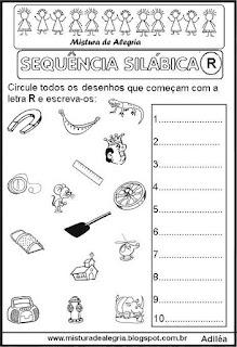 Sequência silábica, autoditados R