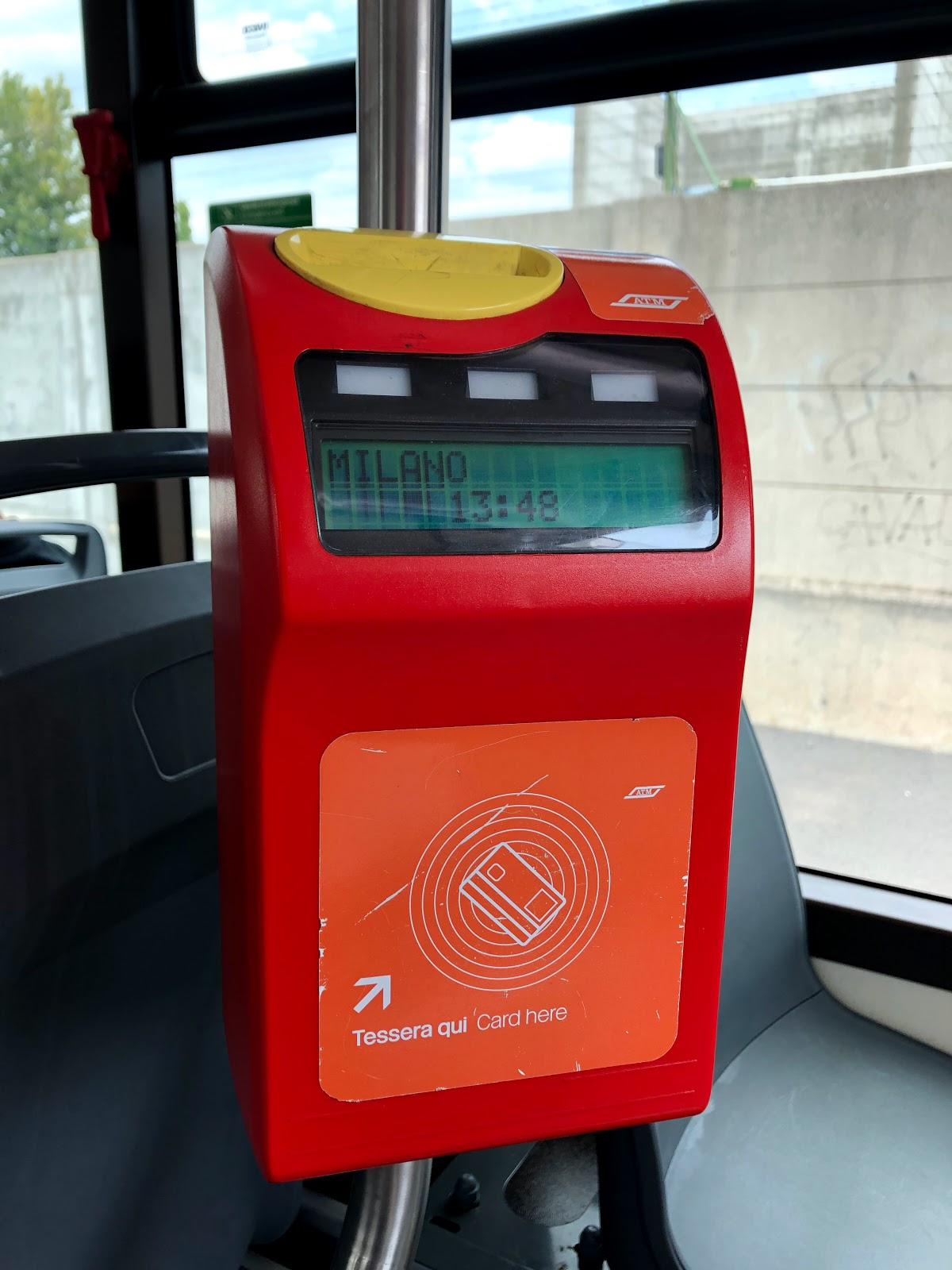 Make sure you validate the ticket in the Public Transport in Milan