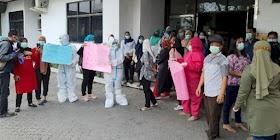 Gaji 2 Bulan Belum Dibayar, Nakes RS Permata Bunda Medan Ramai-ramai Demo