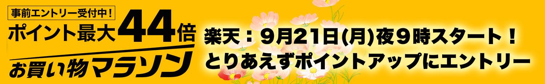 9/21(月)夜9時スタート!楽天お買い物マラソンポイントアップにエントリーしよう
