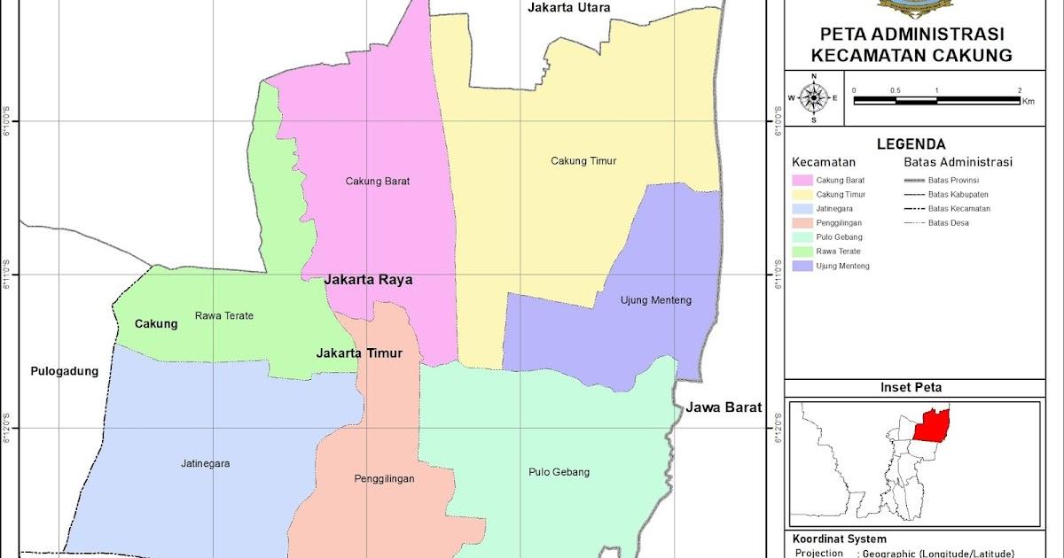Peta Administrasi Kecamatan Cakung, Kota Jakarta Timur ...