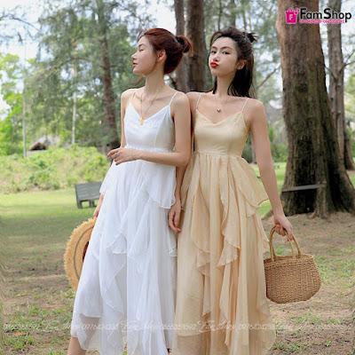 Váy maxi đi biển V270