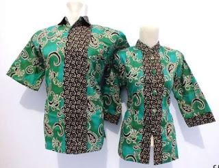 Model kemeja batik wanita modern dengan pasangan