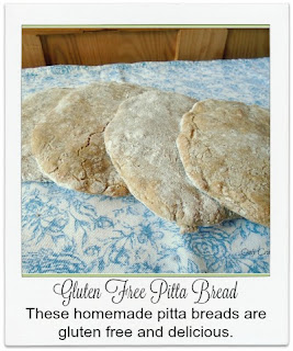 These homemade pitta breads are made with a gluten free bread mix.  GBBO 2015 inspired.