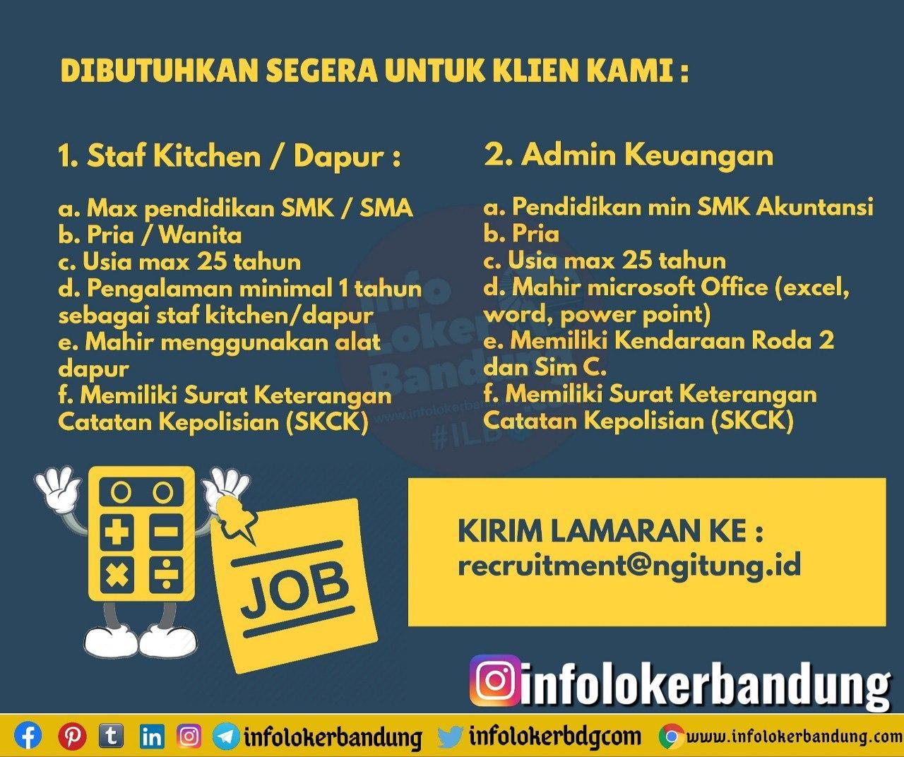 Lowongan Kerja Ngitung.id Bandung Agustus 2020