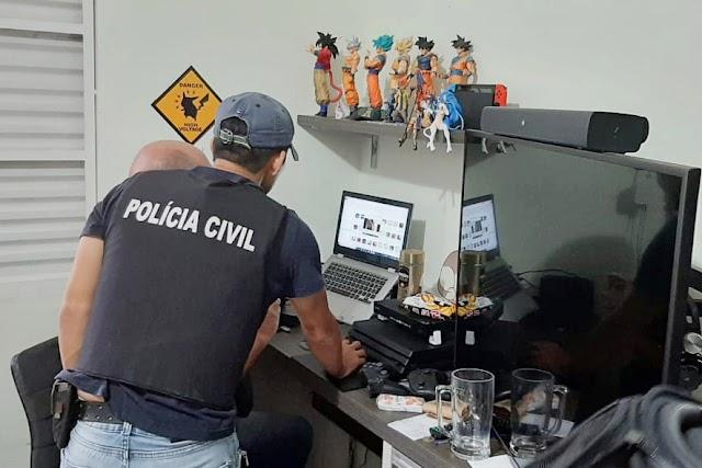 PCPR prende sete em operação contra a pedofilia na internet, um deles em Colombo