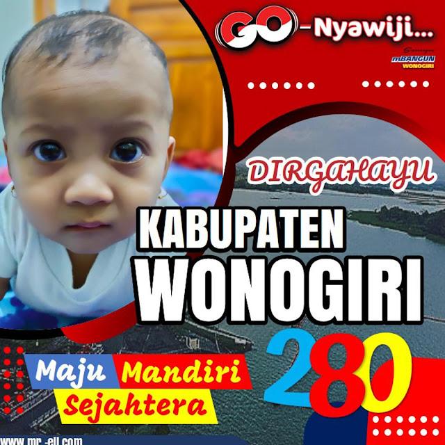 Template Twibbone Hari Jadi Ke-280 Kabupaten Wonogiri
