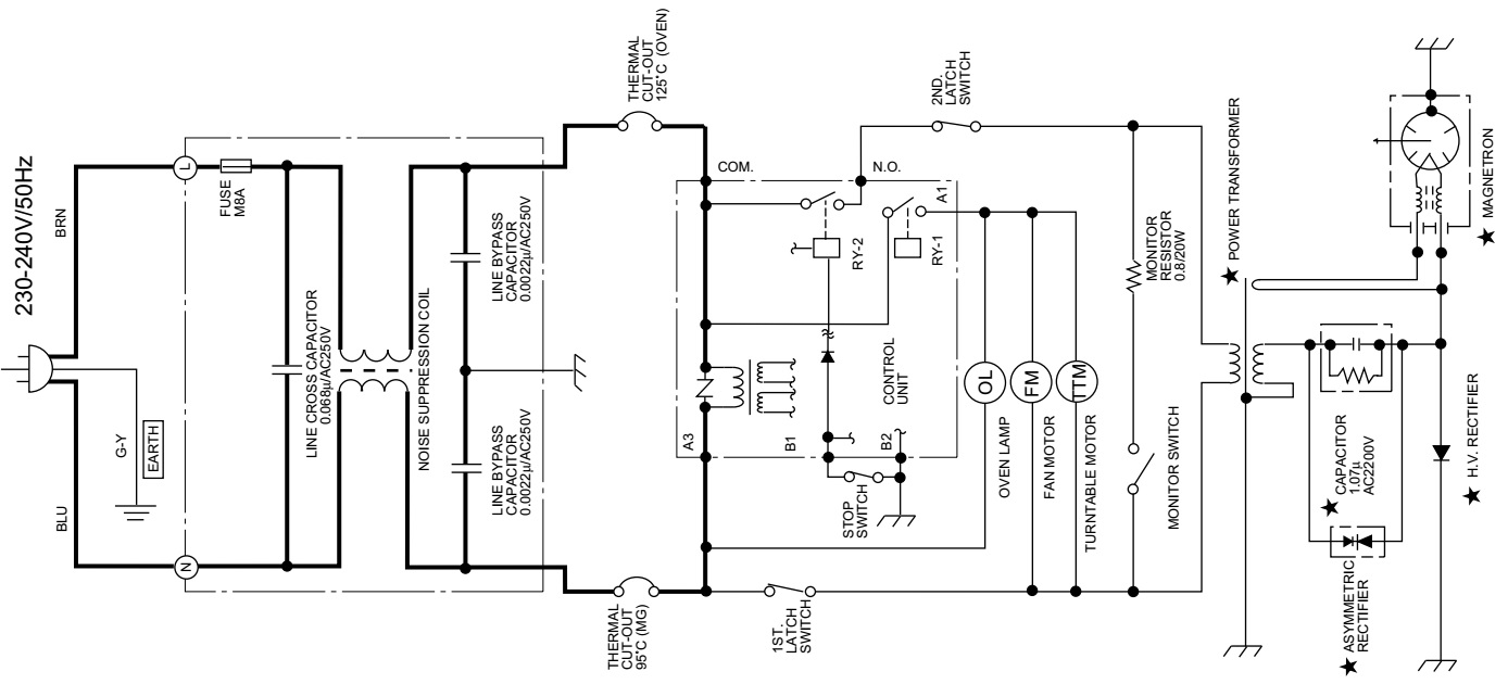 Electric Oven Wiring Diagram Wire Three Way Switch Microwave Sharp R 3c59 U2013 Circuit Diagram1 Door Closed 2
