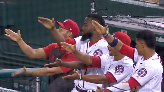 Nationals embrace Gerardo Parra Baby Shark walk-up song 7/29/2019