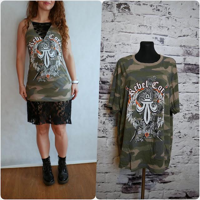 DIY | lace hem t-shirt midi dress | v-neck