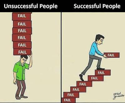jadikan kegagalan sebagai pelajaran bukan beban