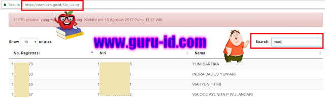 gambar cek nama pelamar upload ulang berkas cpns di sscn