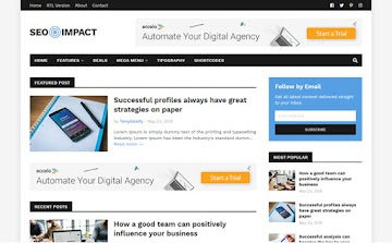 [Free Download] Seo Impact Blogger Template For SeoImpact