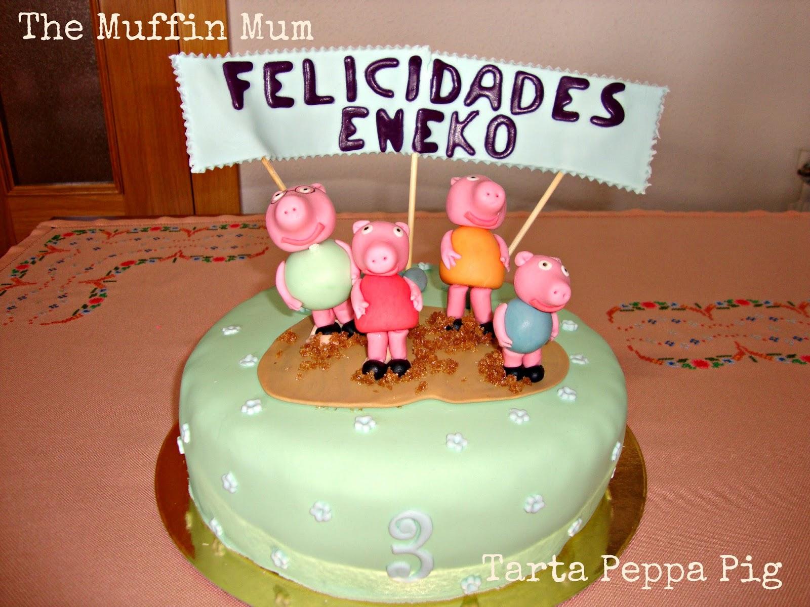 Tarta familia Peppa Pig