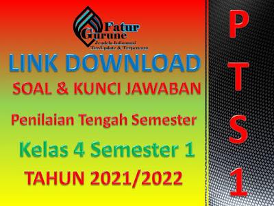 Download Soal dan Kunci Jawaban PTS K13 Kelas 4 SD/MI Semester 1 Tematik 1,2,3,4 dan 5 tahun pelajaran 2021/2022
