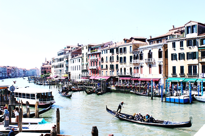 Grand canal and Rialto bridge in Venice