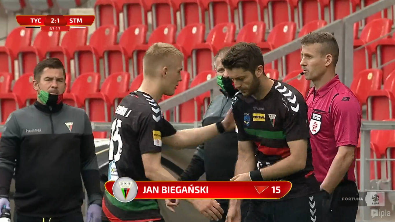 25. kolejka: GKS Tychy - Stal Mielec 2:4<br><br>fot. Polsat Sport / IPLA