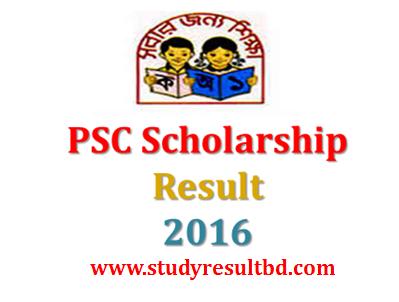 PSC Scholarship Result 2016 www.dpe.gov.bd Primary Education Board
