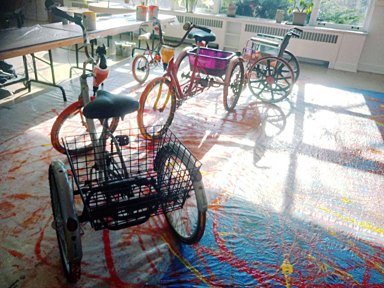 The painting activity marked my first ride on an adult trike. Despite the  added rear stability, these trikes can be a bit unwieldy to steer at first  with ...