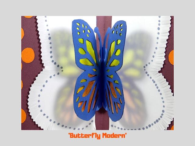Butterfly Modern, pop up card by Minaz Jantz