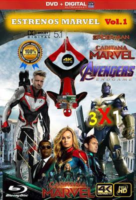 Estrenos Marvel Vol.1 3X1 HD DVD LATINO