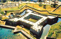 aerial view of Castillo de San Marcos fort