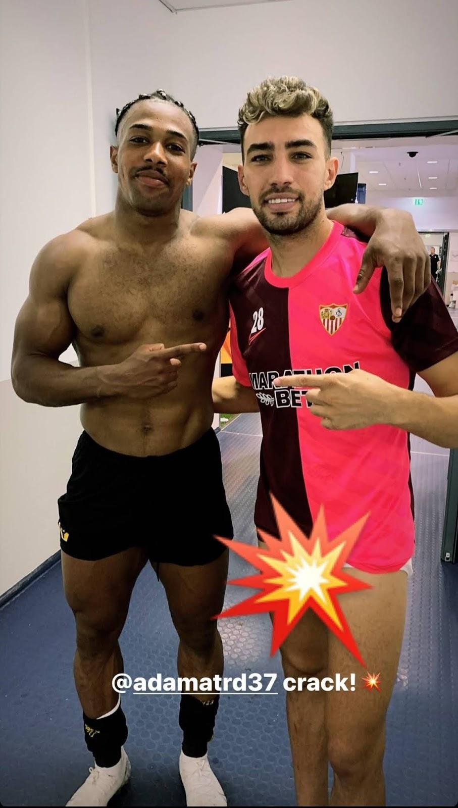 footballers in underwear