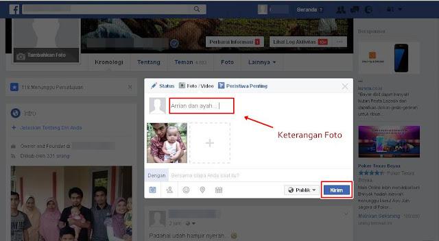 Cara Mudah Masukan Foto Ke Akun Facebook Terbaru