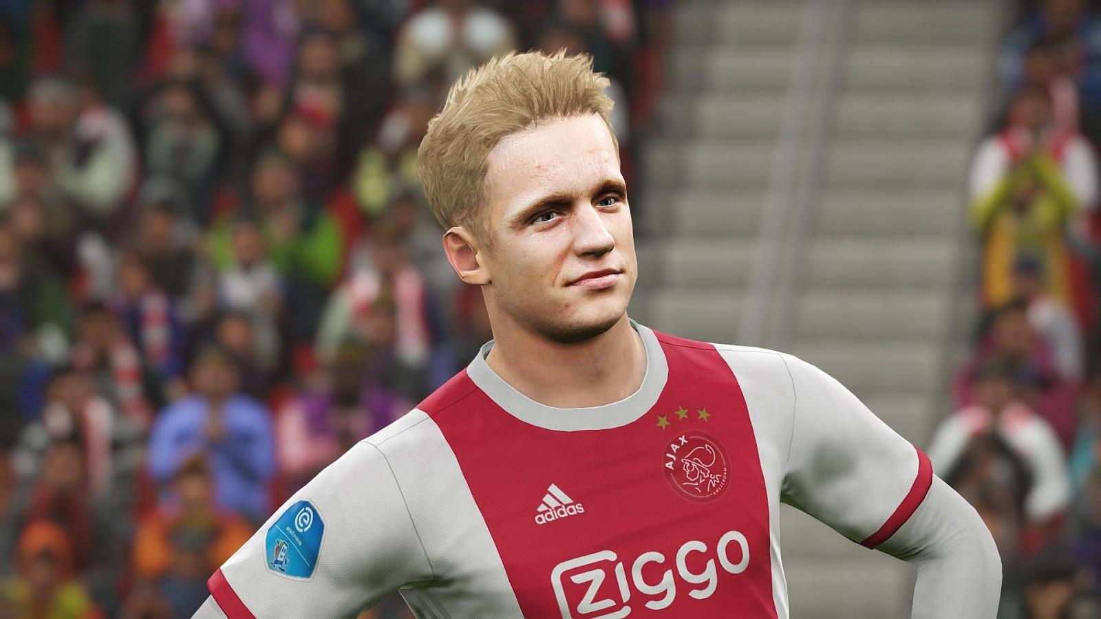 Ultigamerz Pes 2018 Donny Van De Beek Ajax Face