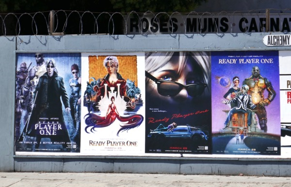 Ready Player One movie homage street posters