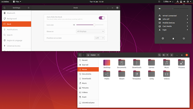 Ubuntu Yaru theme aubegine update folder icons