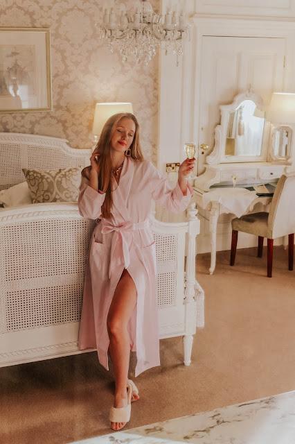 Bonsoir of London Jacquard Pink Gown