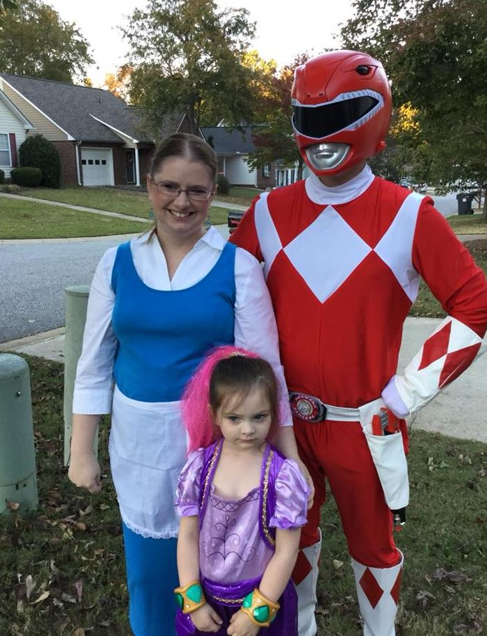 Like always, we celeberated Halloween as a family. My brother Zach was  Jason Lee Scott who was the first Red Ranger from Power Rangers.