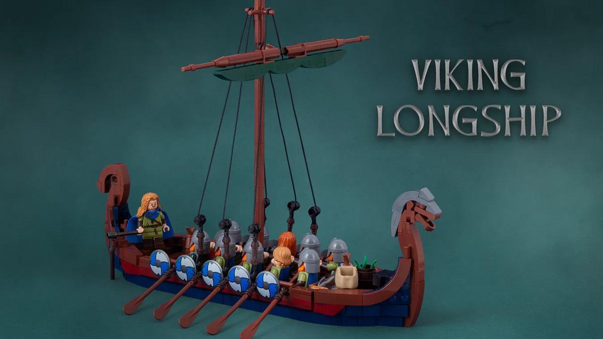 レゴアイデアで『ヴァイキング・ロングシップ』が製品化レビュー進出!2021年第1回1万サポート獲得デザイン紹介