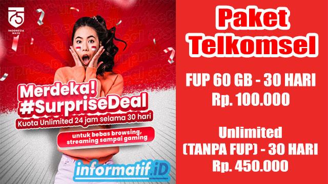 Paket Telkomsel Suprise Deal Unlimited - informatif.id