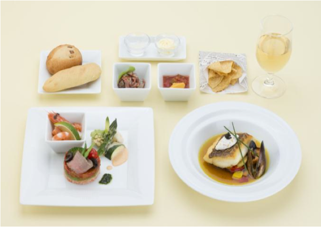Special business class menu on JL066 from Tokyo Narita to San Diego