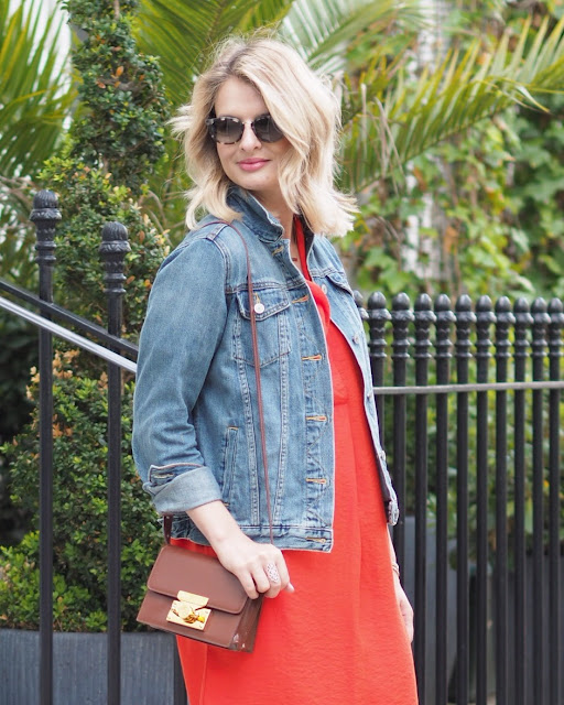 Errol douglas review, blonde bob, blonde wavey hair, subella london, whistles dress, denim jacket, espadrilles, castaner espadrilles