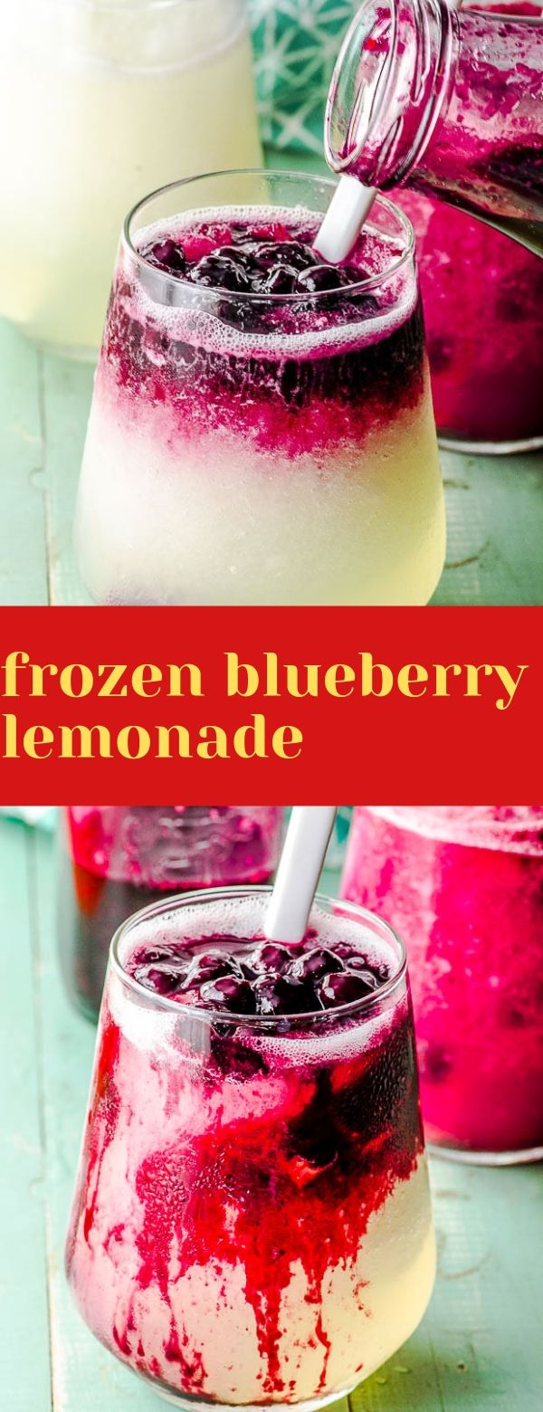 frozen blueberry lemonade