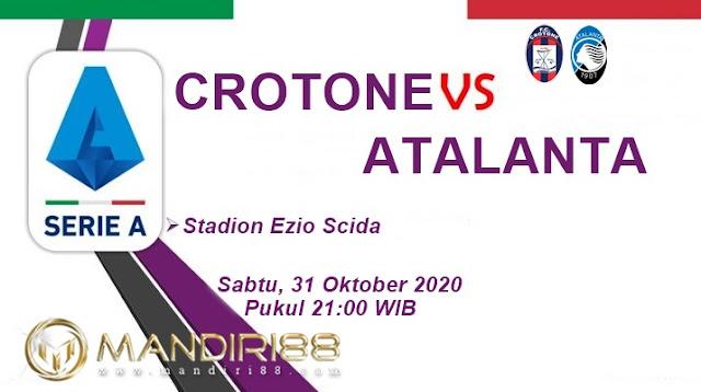 Prediksi Crotone Vs Atalanta, Sabtu 31 Oktober 2020 Pukul 21.00 WIB
